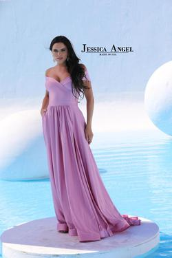 Style 332 Jessica Angel Purple Size 4 Pageant Tall Height Mermaid Dress on Queenly