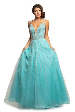 Style 2003 Johnathan Kayne Blue Size 6 Pageant Ball gown on Queenly
