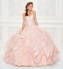 Style PR11933 Mon Cheri Light Pink Size 4 Corset Ball gown on Queenly