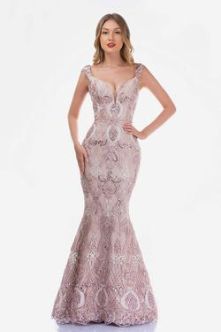 Style 2243 Nina Canacci Pink Size 8 Jewelled Tall Height Mermaid Dress on Queenly