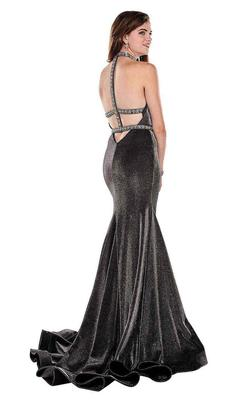 Style 6436 Rachel Allan Black Size 6 Pageant Halter Tall Height Mermaid Dress on Queenly