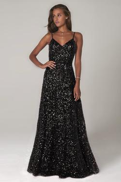 Style 60109 Scala Black Size 8 Tall Height A-line Dress on Queenly