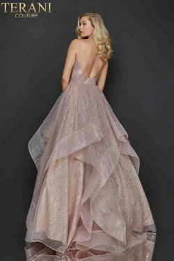 Style 2011P1214 Terani Couture Pink Size 8 Pageant Tall Height Ball gown on Queenly