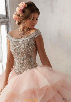 Style 89138 Vizcaya Pink Size 14 Plus Size Ruffles Jewelled Ball gown on Queenly