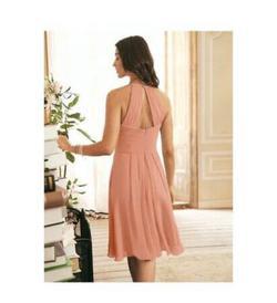 AlicePu Orange Size 16 Mini Wedding Guest A-line Dress on Queenly