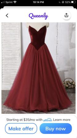 Ashley Lauren Red Size 14 Plus Size Pageant Ball gown on Queenly