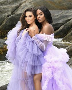 Oyemwen Purple Size 2 Ruffles Pageant Showstopper Train Dress on Queenly