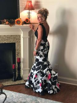 Sherri Hill Multicolor Size 6 Pageant Floral Mermaid Dress on Queenly