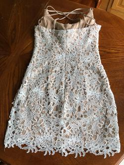 Alyce Paris Nude Size 10 Sorority Formal Lace Cocktail Dress on Queenly