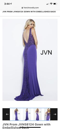 Style JVN58124 Jovani Purple Size 16 Pageant Plus Size Straight Dress on Queenly