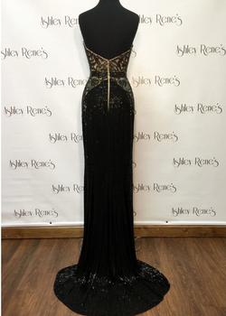 Style 6027 Sherri Hill Black Size 00 Pageant Sweetheart Tall Height Liquid Beading Mermaid Dress on Queenly