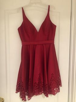 Sherri Hill Red Size 2 Sorority Formal Silk Cocktail Dress on Queenly