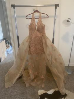 Sherri Hill Nude Size 12 Straight Dress on Queenly