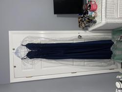 Madison James Blue Size 2 Wedding Guest Straight Dress on Queenly
