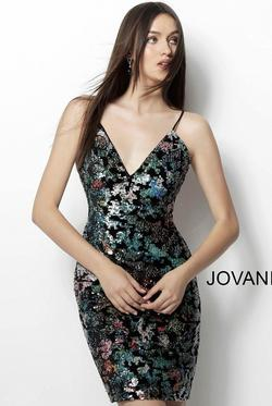 Jovani Multicolor Size 18 Cocktail Dress on Queenly