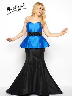 Mac Duggal Blue Size 14 Mermaid Dress on Queenly
