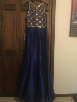 Mac Duggal Blue Size 16 Mermaid Dress on Queenly