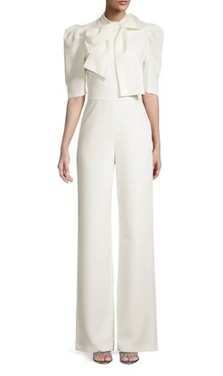 Style Ara Black Halo White Size 2 Mini Jumpsuit Dress on Queenly