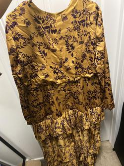 Yellow Size 18 Straight Dress on Queenly