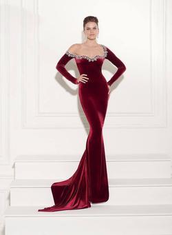 Tarik Ediz Blue Size 4 Pageant Straight Dress on Queenly