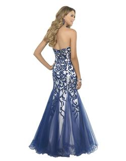 Style 10013 Blush Prom  Blue Size 8 Tall Height Mermaid Dress on Queenly