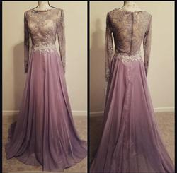 Alyce Paris Purple Size 2 Ball Gown Lace Tulle Straight Dress on Queenly