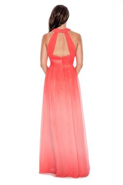 Style 183099 Decode  Orange Size 4 Tall Height A-line Dress on Queenly