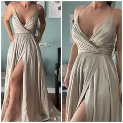 Sherri Hill Silver Size 2 Nude Wedding Guest A-line Dress on Queenly