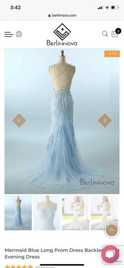Berlin Nova Blue Size 00 Fitted Mermaid Dress on Queenly