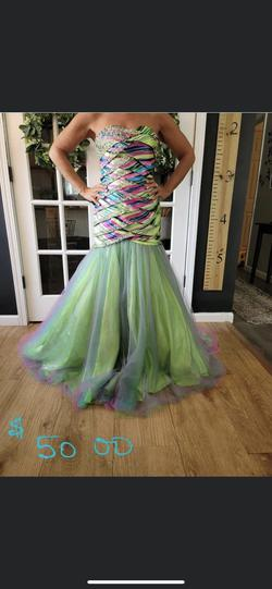 Multicolor Size 0 Mermaid Dress on Queenly