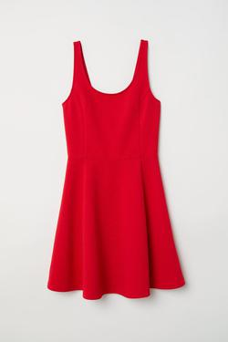 H&M Red Size 4 Flare Cocktail Dress on Queenly