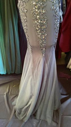 Wow Couture Black Size 4 Sheer Tulle Grey Mermaid Dress on Queenly