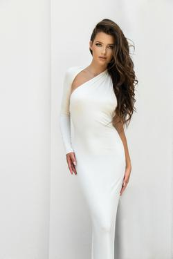 House of CB White Size 2 Pageant One Shoulder Mermaid Dress on Queenly