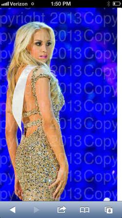 Sherri Hill Gold Size 6 Jewelled Custom Straight Dress on Queenly