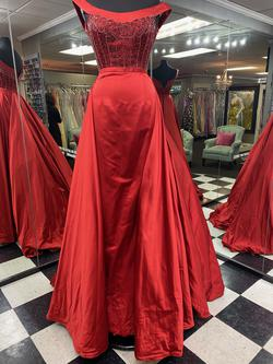 Sherri Hill Red Size 6 Straight Dress on Queenly