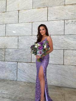 Sherri Hill Purple Size 2 Straight Dress on Queenly