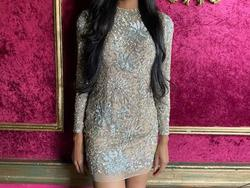 Sherri Hill Nude Size 6 Pageant Custom Cocktail Dress on Queenly