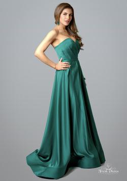 Terani Couture Green Size 2 Tall Height Ball gown on Queenly