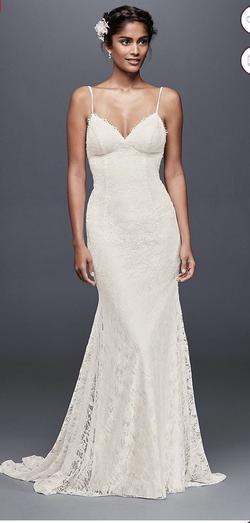 Galina White Size 4 Wedding Train Straight Dress on Queenly