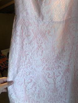 DaVinchi Custom Pink Size 14 Custom Lace Mermaid Dress on Queenly