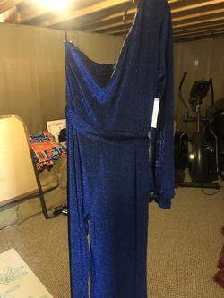 XXXPARIS Blue Size 12 Jumpsuit Dress on Queenly
