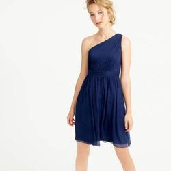Style Kylie J. Crew Blue Size 4 Sorority Formal Flare Bridesmaid A-line Dress on Queenly