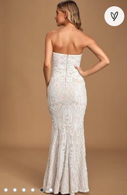 Lulus Nude Size 14 Sweetheart Plus Size Mermaid Dress on Queenly