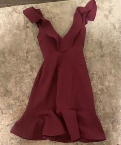 LIKELY Purple Size 4 Sorority Formal Burgundy Cocktail Dress on Queenly