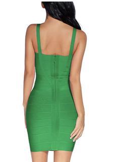 Style B07DJB7WYV Madam Uniq Green Size 6 Emerald Bodycon Cocktail Dress on Queenly