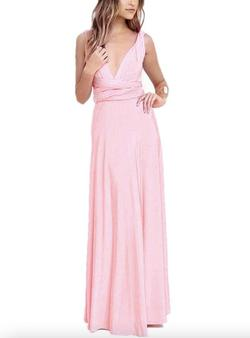 Style B073CGBPLG IWEMEK Pink Size 6 Tall Height Wedding Guest Straight Dress on Queenly