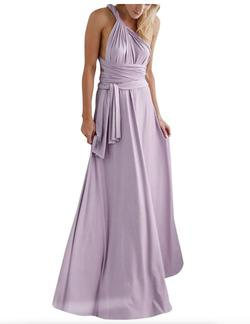 Style B073CGBPLG IWEMEK Purple Size 6 Tall Height Wedding Guest Straight Dress on Queenly
