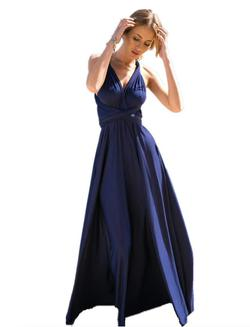 Style B073CGBPLG IWEMEK Blue Size 12 Bridesmaid Plus Size Straight Dress on Queenly
