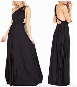 Style B073CGBPLG IWEMEK Black Size 6 Sorority Formal Tall Height Wedding Guest Straight Dress on Queenly