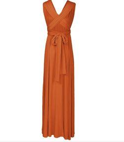 Style B073CGBPLG IWEMEK Orange Size 12 Sorority Formal Tall Height Wedding Guest Straight Dress on Queenly